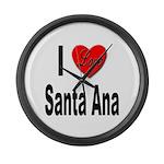 I Love Santa Ana Large Wall Clock