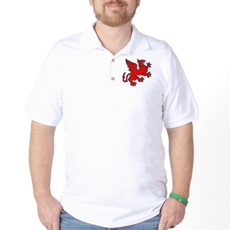 Red Griffin Golf Shirt