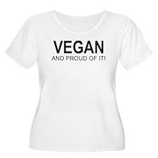The Proud Vegan Women's Plus Size Scoop Neck Tee