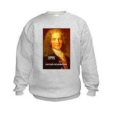 French Philosopher: Voltaire Kids Sweatshirt