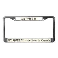 My Wife is My Queen! License Plate Frame