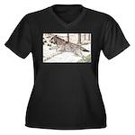 Outcome Women's Plus Size V-Neck Dark T-Shirt