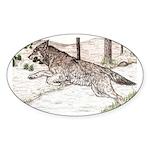 Outcome Oval Sticker