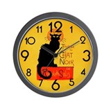 Chat Noir Black Cat Wall Clock