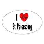 I Love St. Petersburg Oval Sticker (10 pk)