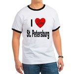 I Love St. Petersburg (Front) Ringer T