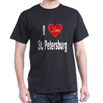 I Love St. Petersburg (Front) Dark T-Shirt