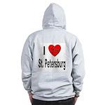 I Love St. Petersburg (Back) Zip Hoodie