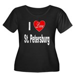 I Love St. Petersburg (Front) Women's Plus Size Sc