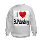 I Love St. Petersburg Kids Sweatshirt