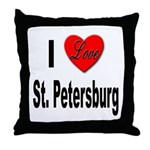 I Love St. Petersburg Throw Pillow