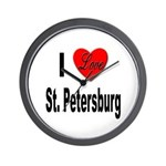 I Love St. Petersburg Wall Clock