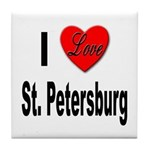 I Love St. Petersburg Tile Coaster