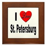 I Love St. Petersburg Framed Tile