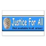 Justice Rectangle Sticker 10 pk)
