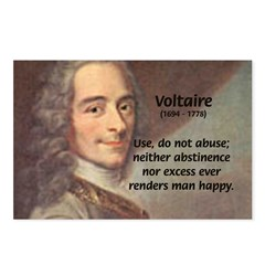 French Philosopher: Voltaire Postcards (Package of