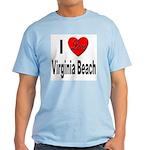 I Love Virginia Beach Light T-Shirt