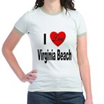 I Love Virginia Beach Jr. Ringer T-Shirt