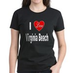 I Love Virginia Beach (Front) Women's Dark T-Shirt