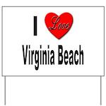 I Love Virginia Beach Yard Sign
