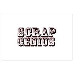 Scrap Genius Large Poster