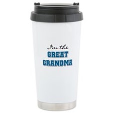 Blue I'm the Great Grandma Ceramic Travel Mug