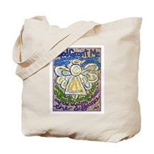 English Serenity Prayer Angel Tote Bag