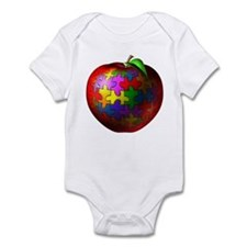 Puzzle Apple Infant Bodysuit