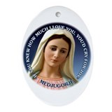 Our Lady of Medjugorje Oval Ornament