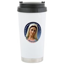 Our Lady of Medjugorje Ceramic Travel Mug