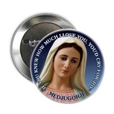 "Our Lady of Medjugorje 2.25"" Button (10 pack)"