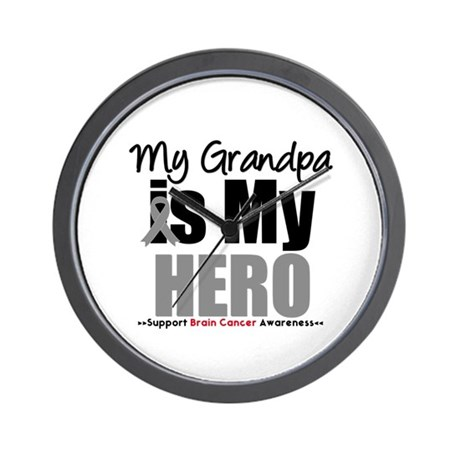BrainCancerHero Grandpa Wall Clock