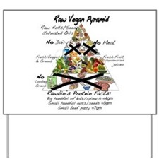 Raw Vegan Pyramid Yard Sign