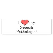 I heart my Speech Pathologist Bumper Bumper Sticker