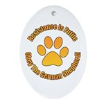 German Shepherd Dog Ornament (Oval)