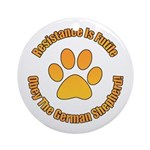 German Shepherd Dog Ornament (Round)