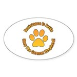 German Shepherd Dog Sticker (Oval 50 pk)