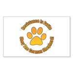 German Shepherd Dog Sticker (Rectangle 50 pk)