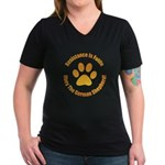 German Shepherd Dog Women's V-Neck Dark T-Shirt