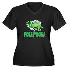 Pollywogs Women's Plus Size V-Neck Dark T-Shirt