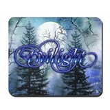Moonlight Twilight Forest Mousepad