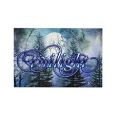 Moonlight Twilight Forest Rectangle Magnet