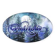Moonlight Twilight Forest Oval Sticker (10 pk)