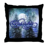 Moonlight Twilight Forest Throw Pillow