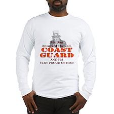 My Coast Guard Dad Answered Long Sleeve T-Shirt