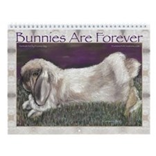 Rabbit Art by Evonne Vey Wall Calendar