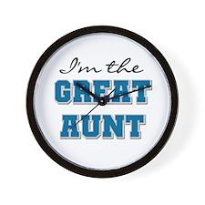 Blue Great Aunt Wall Clock