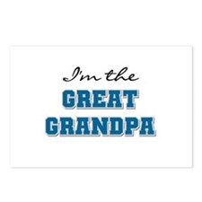 Blue Great Grandpa Postcards (Package of 8)