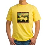 Framed Brahma Chickens Yellow T-Shirt