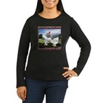 Framed Brahma Chickens Women's Long Sleeve Dark T-
